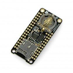 Adalogger FeatherWing - modul s hodinami RTC a slotem pro microSD pro řadu Feather