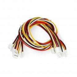 Sada 5 4kolíkových kabelů Grove female-female - 30 cm