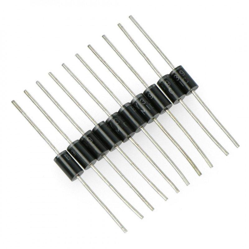 BY399 3A / 800V usměrňovací dioda - 10 ks.