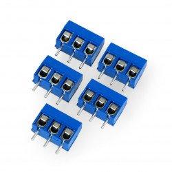 ARK konektor KF301 rastr 5,0 mm 3 pin (-) - 5ks.
