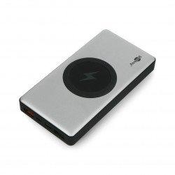 PowerBank Goobay Wireless 10.0 55152 Quick Charge 3.0 10000mAh mobilní baterie - šedá - černá