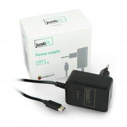 Napájecí zdroj USB typu C pro Raspberry Pi 4 černý 5V / 3A