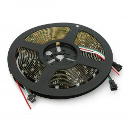RGB LED pásek WS2812B - digitální, adresovaný - IP65 30 LED / m, 9W / m, 5V - 5m - černý