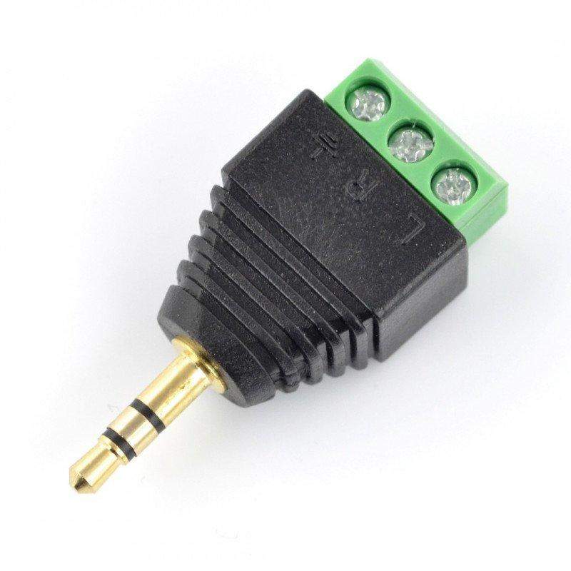 Jack 3,5 mm konektor se šroubovacím rychlospojkou