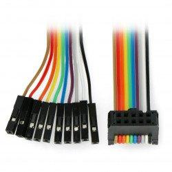Kabel IDC 10 female - kolíky
