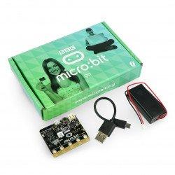 Micro: bit Go - vzdělávací modul, Cortex M0, akcelerometr, Bluetooth, 5x5 LED matice + příslušenství