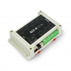 Řadič Ethernet s 8kanálovým relé - RLY-8-POE-USB