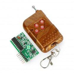 Čtyřkanálový rádiový modul 433 MHz + dálkové ovládání