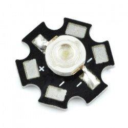 Výkonová LED hvězda 3 W - bílá s chladičem