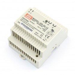 Napájecí zdroj Mean Well DR-30-12 s konstantním napětím pro lištu DIN - 12V / 2A