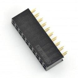 Zásuvka 2x10, rozteč 2,54 mm
