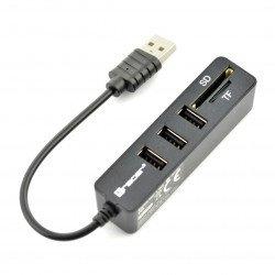 Čtečka paměťových karet All-in-one Tracer + rozbočovač CH4 USB