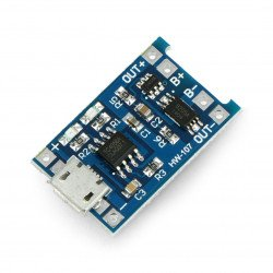 Nabíječka Li-Pol TP4056 single cell 1S 3,7 V microUSB se zabezpečením
