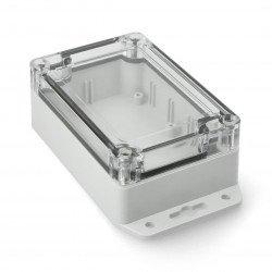 Plastové pouzdro Kradex Z128 JD ABS-PC s těsněním a mosaznými pouzdry IP65 - světlo 105x70x40mm s ušima
