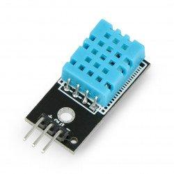 Snímač teploty a vlhkosti DHT11 - modul + kabely