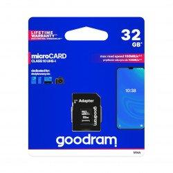 Paměťová karta Goodram micro SD / SDHC 32 GB UHS-I třídy 10 s adaptérem
