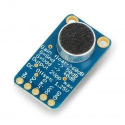 Adafruit - elektretový mikrofon se zesilovačem MAX9814