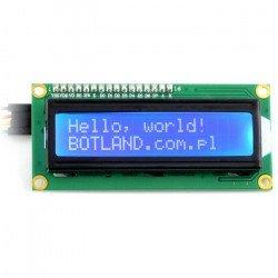 LCD displej 2x16 znaků modrý + převodník I2C LCM1602