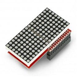 Matrix 128 LED 16x8 MAX7219 pro Raspberry Pi
