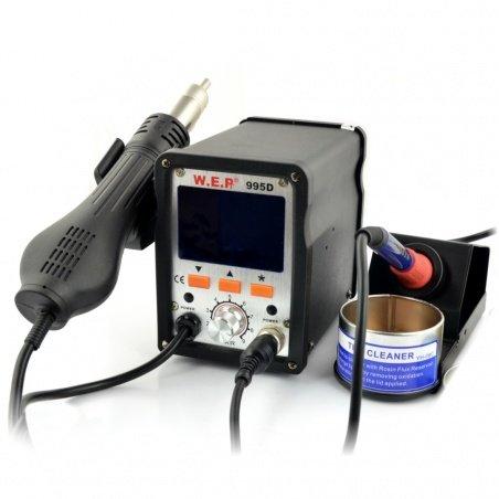 Pájecí stanice WEP 995D s hrotem a špičkou s ventilátorem na skladě - 700 W.