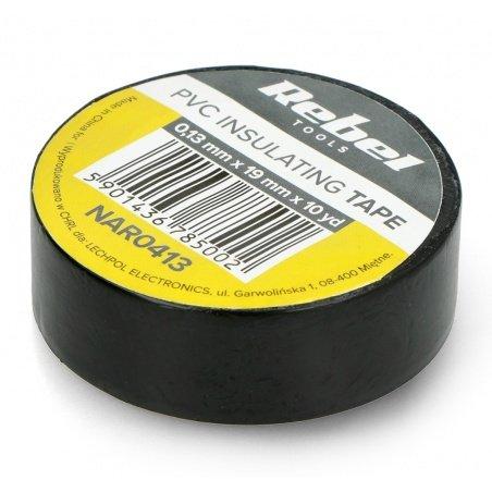 Izolační páska Rebel 0,13x19mm x 9,14m černá