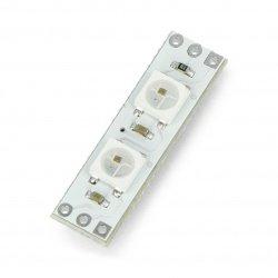 Modul Pixel x2 s adresovatelnými RGB LED diodami WS2812B 5050 - 28 mm