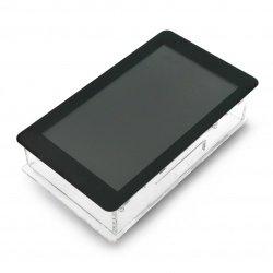 Průhledné pouzdro pro Raspberry Pi a vyhrazená 7 '' dotyková obrazovka