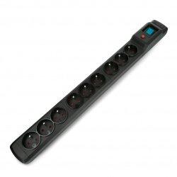 Prodlužovací kabel se zabezpečením Armac multi M9 černý - 9 zásuvek - 3 m