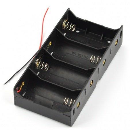 Koš na 4 baterie typu D (R20)