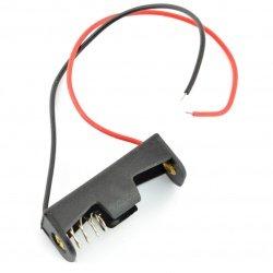 Koš na 1 baterii typu A23 (12V) s kabely