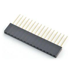 Přímá zásuvka rozteč 1x16pin 2,54 mm - svislá dlouhá