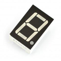 Wyświetlacz 8-segmentowy x1 - 14mm zielony - wsp. katoda