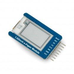 E-papír E-Ink - modul s displejem SPI - 128x80px 1,02 '' -