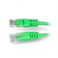 Przewód sieciowy Ethernet Patchcord UTP 5e 1,5m - zielony