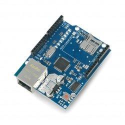 Ethernetový štít W5100 pro Arduino se čtečkou karet microSD