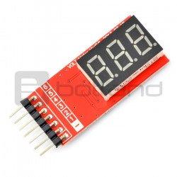 LiPo LCD indikátor napětí 2-6 článků