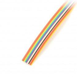 Plochý barevný kabel 14 IDC, rozteč 1,27 mm - role 30,5 m