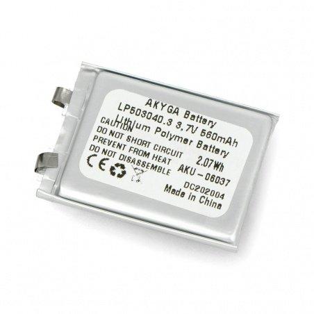Akyga 560mAh 1S 3,7V Li-Pol baterie - 40x30x5mm