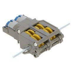 Stejnosměrné motory s dvojitým ozubením