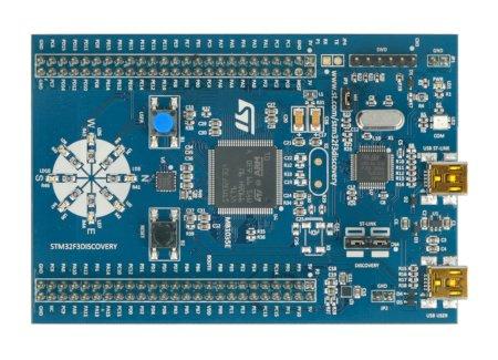 Moduł STM32F3 Discovery z czujnikiem IMU