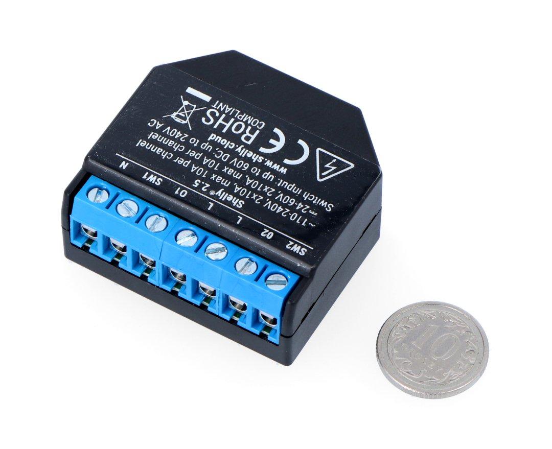 Shelly 2,5 2x 230V WiFi relé