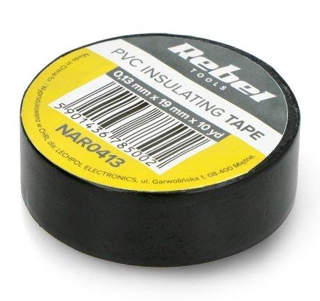 Izolační páska Rebel 0,13x19mm x 10yd černá